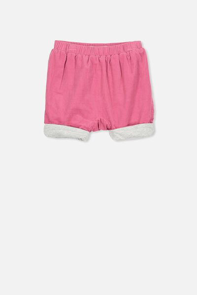 The Baby Cord Short, CARMINE PINK