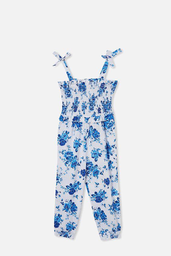 Imogen Shirred Jumpsuit, WHITE/ROSIE FLORAL
