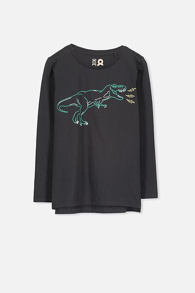 Tom Long Sleeve Tee, PHANTOM DINO/SIS