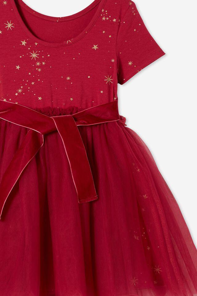 Ivy Dress Up Dress, BERRY/MAGICAL STARS