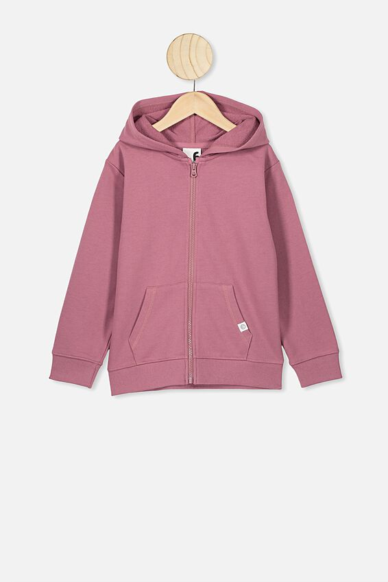 Sunny Zip Through Hoodie, VINTAGE BERRY