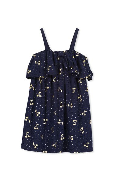 Paige Dress, PEACOAT/PINDOT & CHERRIES