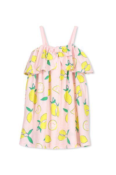 Paige Dress, PASTEL PINK/LEMONS