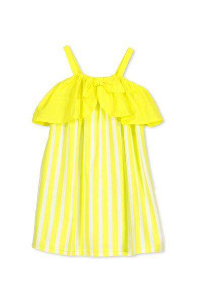 Paige Dress, HOT YELLOW/STRIPE