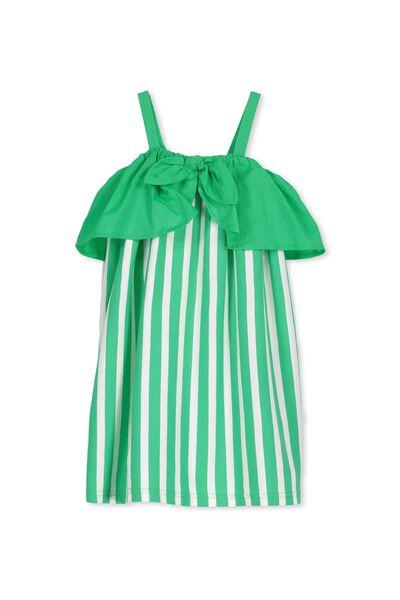 Paige Dress, SIMPLY GREEN/STRIPE