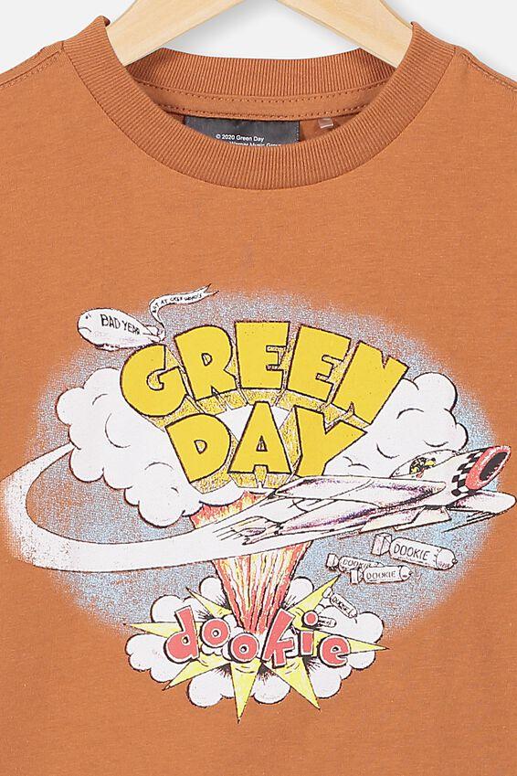 Green Day Short Sleeve Tee, LCN WMG GINGERBREAD/GREEN DAY