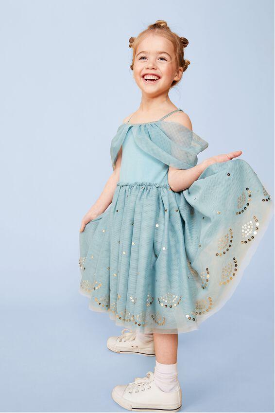Jasmine Iris Tulle Dress, LCN DIS/JASMINE