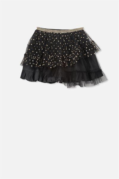 Trixiebelle Tulle Skirt, PHANTOM/RUFFLES