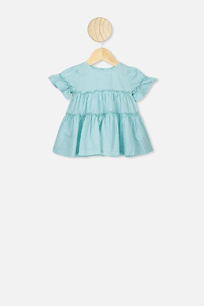 Abby Flutter Dress, DREAM BLUE