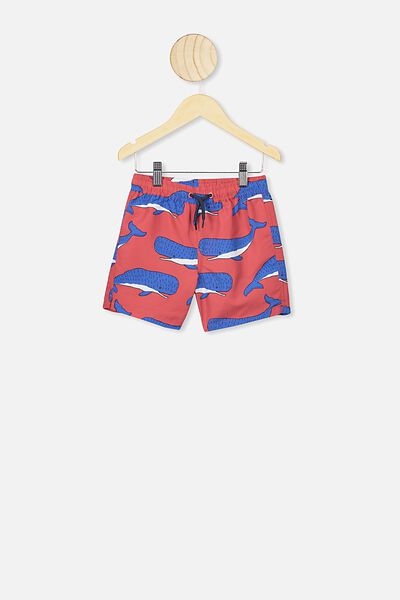 Bailey Boardshort, LUCKY RED/WHALES