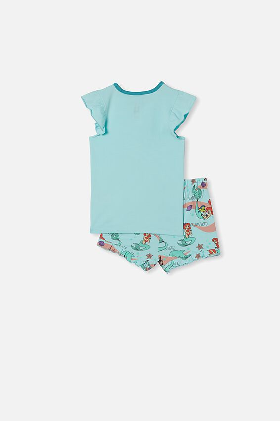 Stacey Short Sleeve Flutter Pyjama Set, LCN DIS ARIEL DREAM BLUE