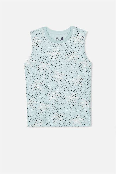 Orson Tank, WASHED AQUA BABY PALM/MUSCLE