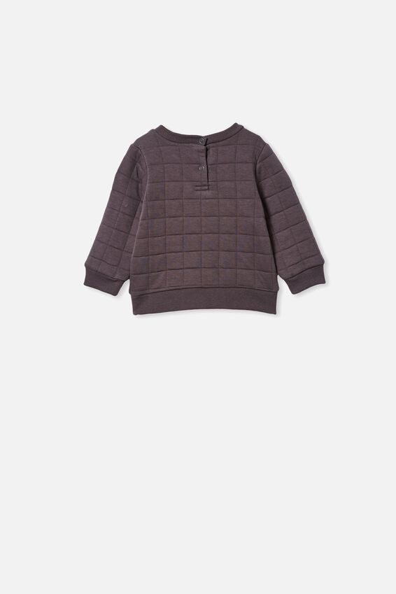 Scout Quilted Sweater, RABBIT GREY