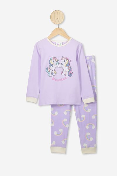 Florence Long Sleeve Pj Set, LCN HAS VINTAGE LILAC/MY LITTLE PONY BESTIES