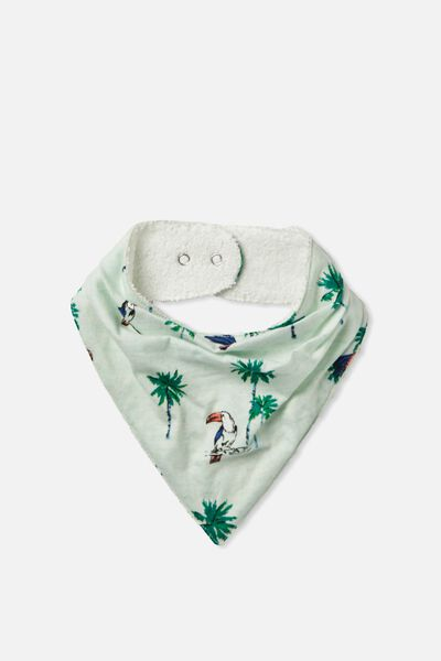 Dribble Bib, TROPICAL BLUE MARLE/TOUCAN