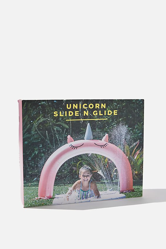 Inflatable Slide N Glide, PINK UNICORN