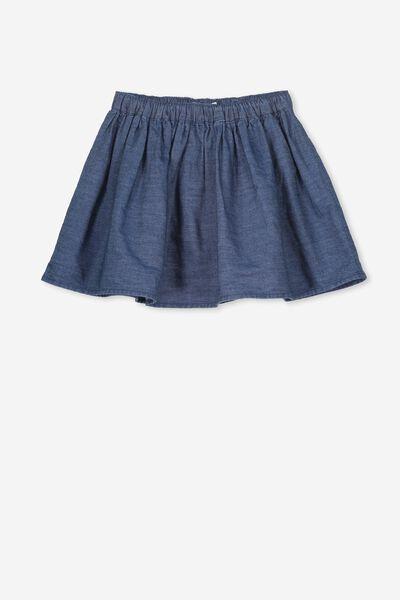 Ellie Flippy Skirt, DARK CHAMBRAY