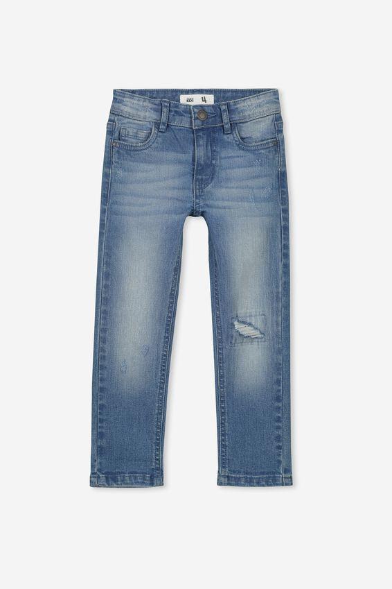 Ollie Slim Leg Jean, MID DENIM