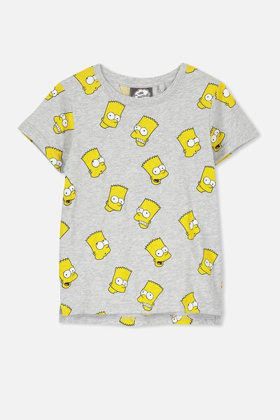 Short Sleeve Licence1 Tee, LT GREY/BART
