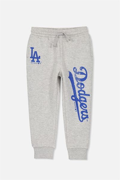 License Slouch Trackpant, LT GREY MARLE/LOS ANGELES DODGERS