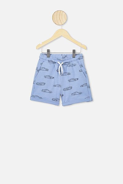 Henry Slouch Short, POWDER PUFF BLUE/CARS