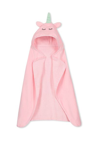 Baby Snuggle Towel, PINK UNICORN