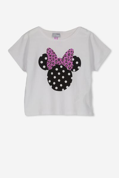Lux Short Sleeve Tee, WHITE/MINNIE BOW/BOXY