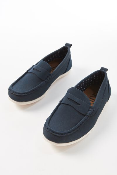 Billy Boat Shoe, NAVY BLUE
