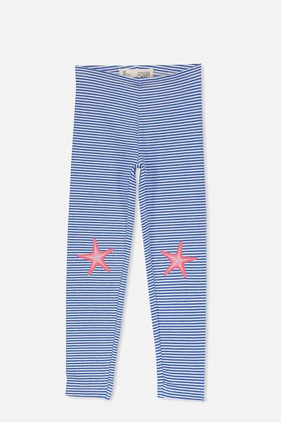 Huggie Tights, PRINCESS BLUE STRIPE/STARFISH KNEES