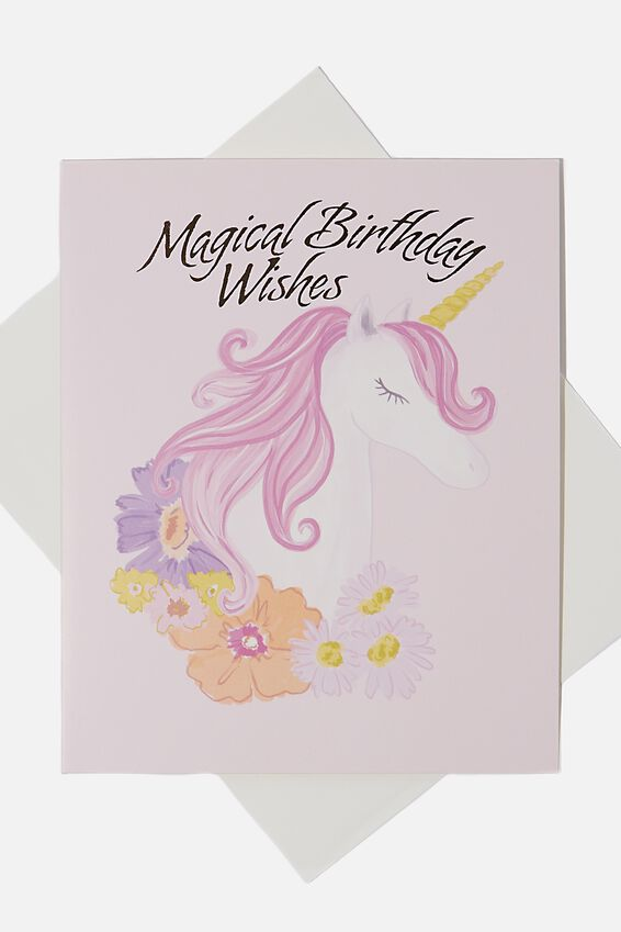 Birthday Gift Card, MAGICAL BIRTHDAY UNICORN