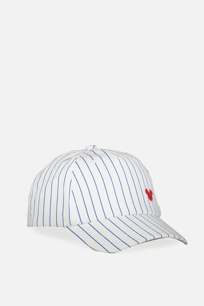 Licensed Baseball Cap, MICKEY/BASEBALL STRIPE