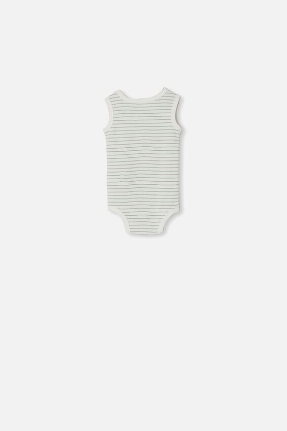 The Singlet Bubbysuit, SALLA STRIPE VANILLA/SMASHED AVO