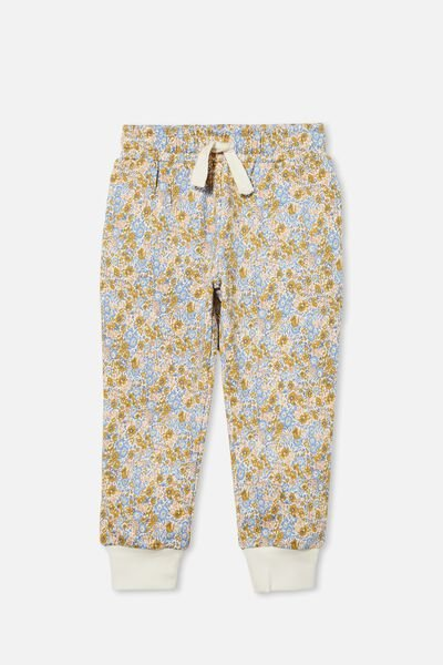 Marlo Trackpant, HONEY GOLD VINTAGE FLORAL