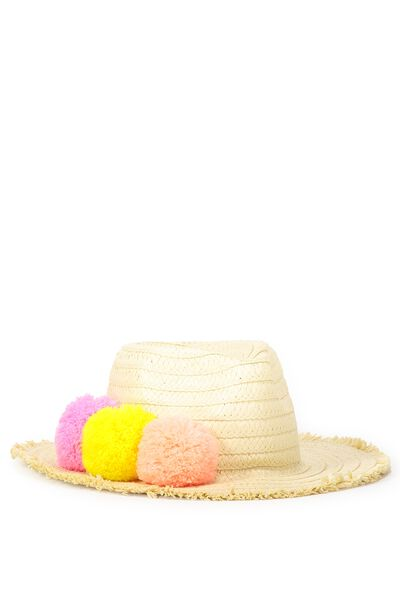 Pom Pom Sun Hat, MULTI
