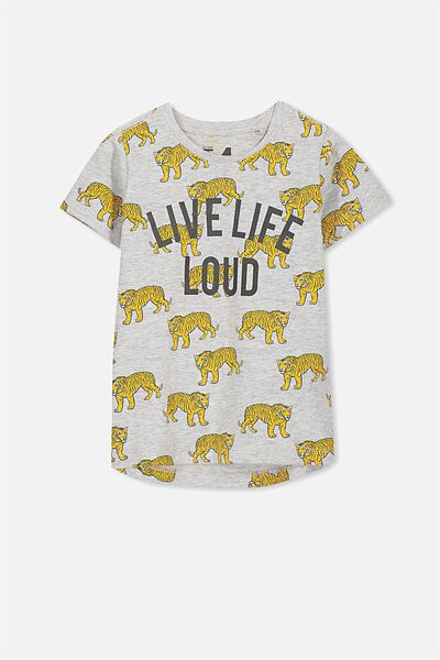 Max Short Sleeve Tee, LIVE LIFE LOUD TIGERS/CH