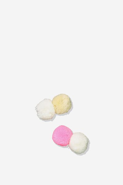 Fashion Hair Clips, POM-POM