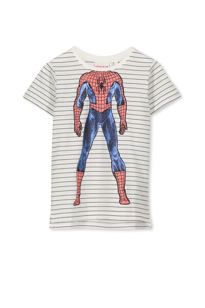 Short Sleeve License Tee, GRAPHITE STRIPE/SPIDERMAN