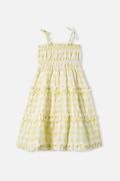 Annika Sleeveless Dress, LEMON DROP GINGHAM