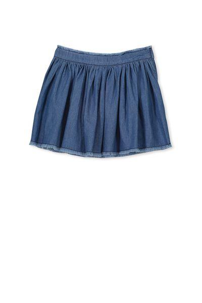 Umi Skirt, MID BLUE