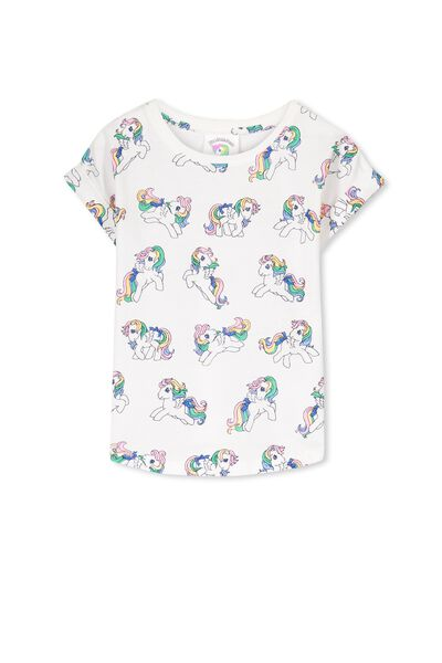 Lux Slouch Tee, MY LITTLE PONY/VANILLA