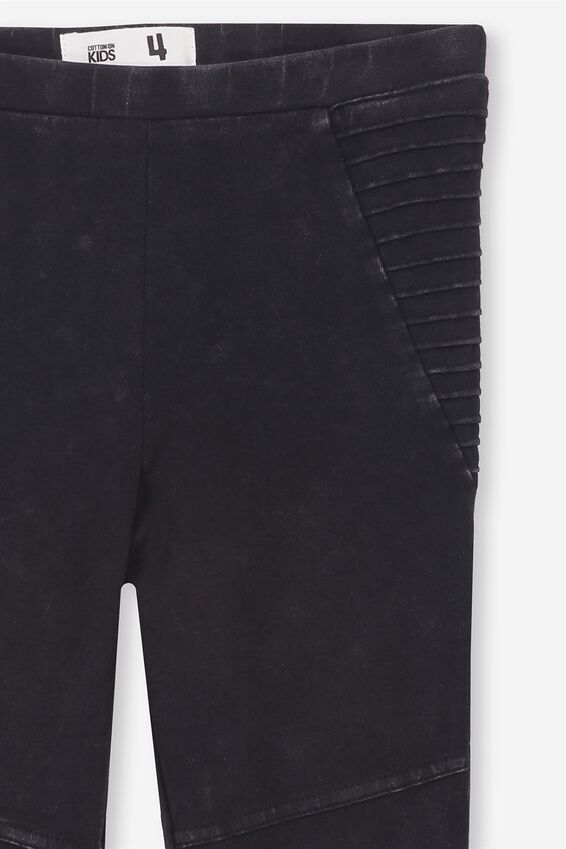 Huggie Leggings, BLACK WASH MOTO PANELS