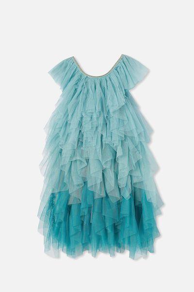 Alicia Dress Up Dress, MINT BREEZE GRADIENT