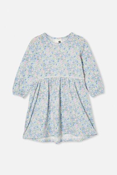 Savannah Long Sleeve Dress, VANILLA/VINTAGE FLORAL