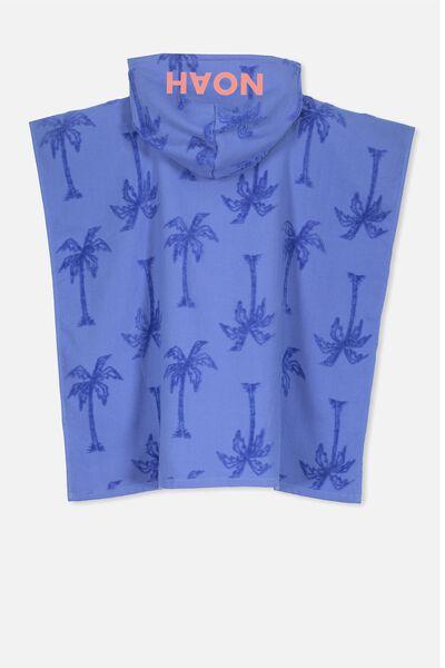 Personalised Hooded Towel, BLUE PALM PERSONALISED
