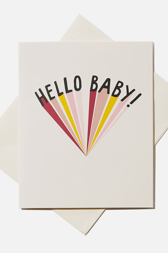 Baby Gift Card, HELLO BABY
