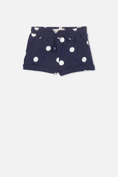 Nila Knit Short, PEACOAT/SILVER SPOT