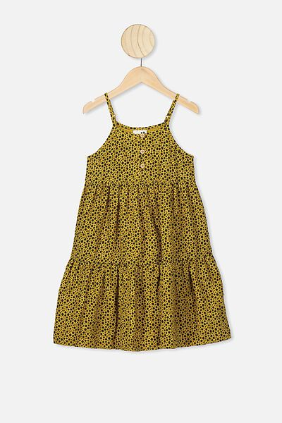 Mackenzie Sleeveless Dress, KEEN AS MUSTARD/DITSY FLORAL