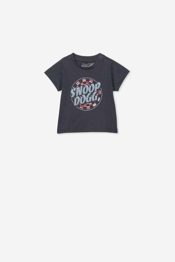 Snoop Dogg Short Sleeve Baby Tee, LCN MT GRAPHITE GREY/SNOOP DOG
