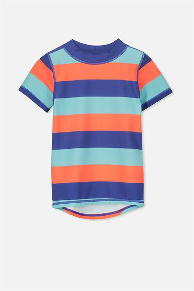 Finley Short Sleeve Rash Vest, MIXED STRIPE MULTI