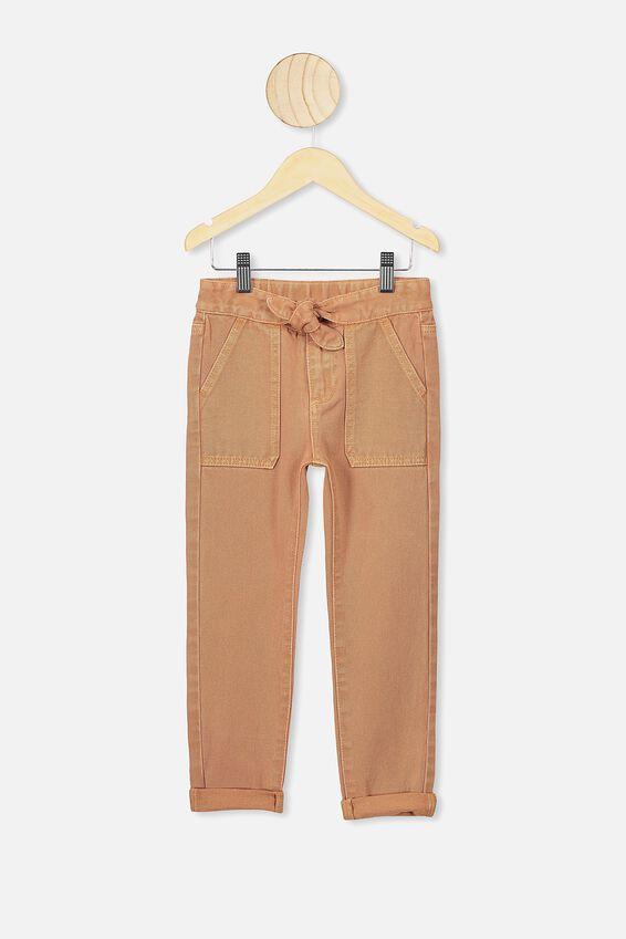 Blair Tie Front Jean, DUST STORM